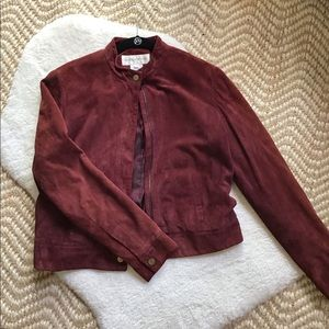 Jones New York suede leather jacket